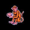 Monkey Holding Peach Brand