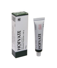 Clobetasol ointment 0.05% treatment Psoriasis (Hofvate) - 15g.